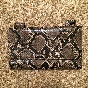 Zara snake skin printed wallet